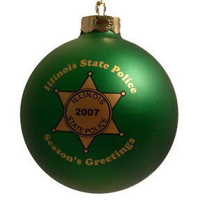 green police dept christmas ornamentjpg